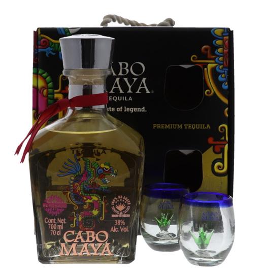 Afbeelding van Tequila Cabo Maya Reposado + Coffret 38° 0.7L
