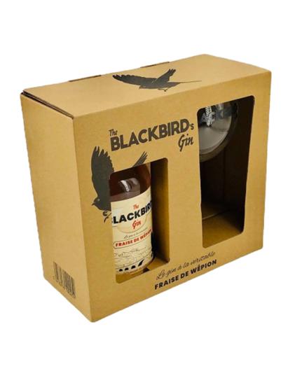 Afbeelding van The Blackbird's Gin + Glas 40° 0.5L