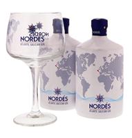 Afbeeldingen van Nordes Gin Special Pack ( 2 Flessen + 6 glazen) 40° 1.4L