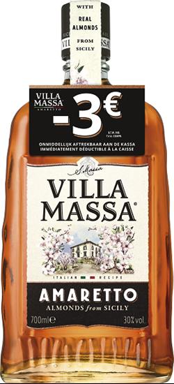 Afbeelding van Villa Massa Amaretto + Bon 3€ 30° 0.7L