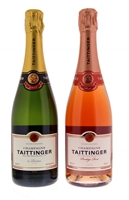 Image de Taittinger Brut Réserve + Prestige Rosé en coffret 12° 1.5L