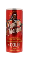 Image de Captain Morgan & Cola Cans 12 x 25 cl 5° 3L