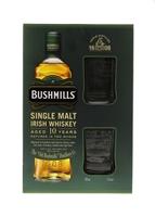 Image de Bushmills 10 Years + 2 verres 40° 0.7L
