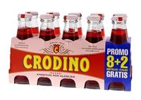 Image de Crodino Rosso 10 x 10 cl sans alcool (8+2 pack flaché)  1L
