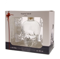 Afbeeldingen van Crystal Head + 4 shot glasses 40° 0.7L