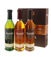 Afbeeldingen van Glenfiddich Discovery Pack 12 Years +15 Years +18 Years 3 x 20 cl 40° 0.6L
