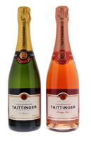 Afbeeldingen van Taittinger Brut Réserve + Prestige Rosé en coffret 12° 1.5L