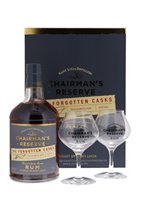 Afbeeldingen van Chairman's Reserve The Forgotten Casks + 2 Glasses 40° 0.7L