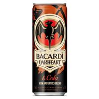 Afbeeldingen van Bacardi Oakheart & Cola cans 12 x 25 cl 7° 3L