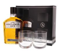 Afbeeldingen van Jack Daniel's Gentleman Jack with GBX + 2 glazen 40° 0.7L