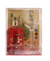 Afbeeldingen van Filliers Dry Gin 28 Pink + Glas + GBX 37.5° 0.5L