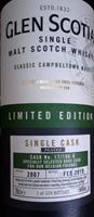 Image de Glen Scotia Single Cask 2007 Single Malt Whisky 54° 0.7L