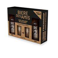 Afbeeldingen van Bière des Amis 2 x 66 cl + 4 glazen 5.8° 1.32L